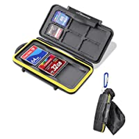 Beeway® Memory Card Case Holder for SD SDHC SDXC Compact Flash CF Cards - Waterproof