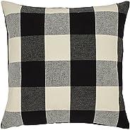 Amazon Brand – Stone & Beam Farmhouse Buffalo Check Plaid Throw Pillow Cover - 20 x 20 Inch, B