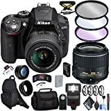 Nikon D5300 DSLR Camera 18-55mm Lens Carrying Cases, Flash, Filter Kits, Cleaning Accessory Combo International Model