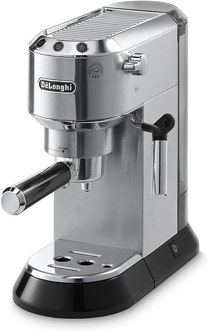 De'Longhi Dedica Máquina para Espresso con bomba de 15 barras, Acero inoxidable, 1
