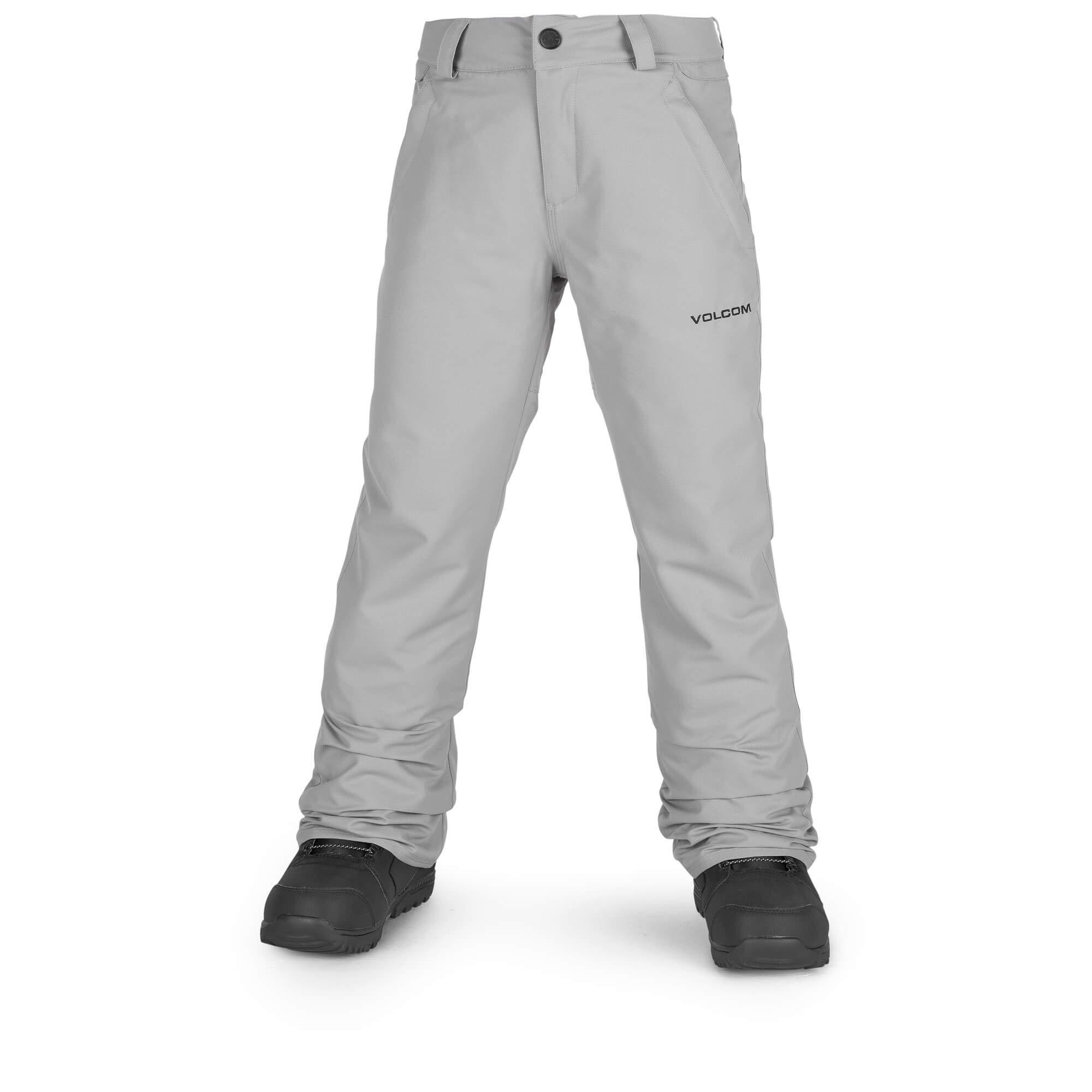 Volcom Boys' Big Freakin 2 Layer Shell Chino Snow Pant, Charcoal, Medium