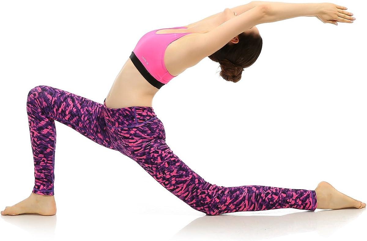 AiJump Pantaloni Palestra Leggings Yoga per Donna Maglia Fitness Sport Gym Jogging Elastico Allenarsi