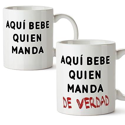 PACK 2 TAZAS - Tazas de café regalo para parejas de enamorados ...
