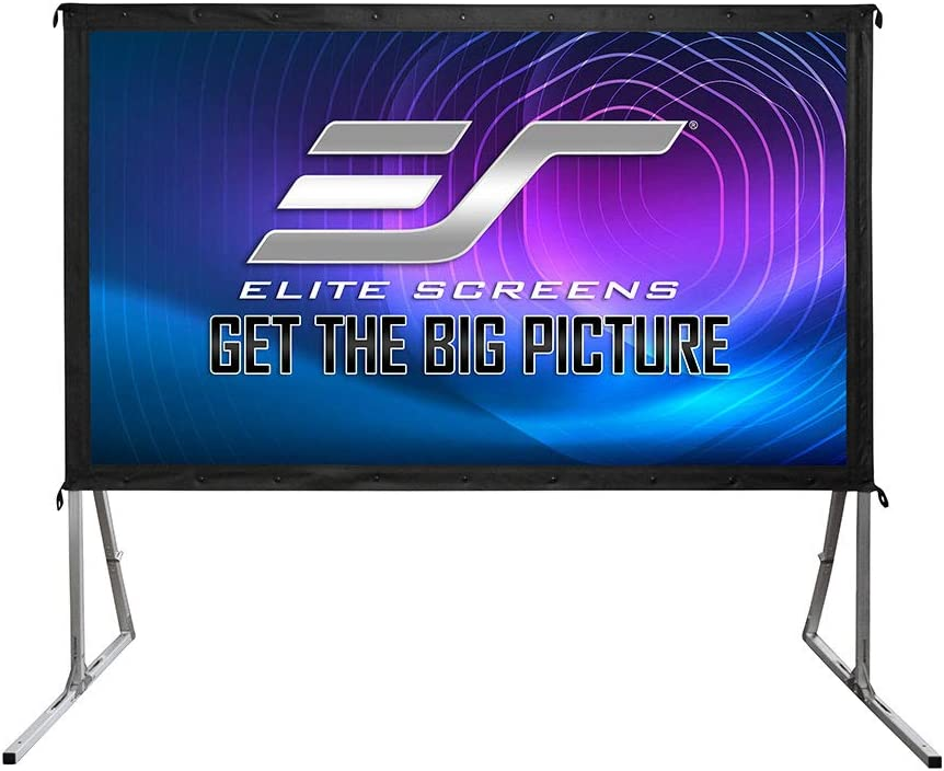 "Elite Screens Yard Master 2, 120 inch Outdoor Projector Screen with Stand 16:9, 8K 4K Ultra HD 3D Fast Folding Portable Movie Theater Cinema 120"" Indoor Foldable Easy Snap Projection Screen, OMS120H2: Home Audio & Theater"