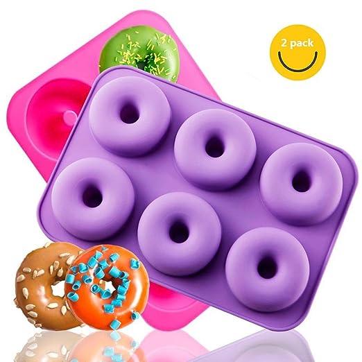 Mallalah Molde para Donuts - Juego de 2 moldes de Silicona ...