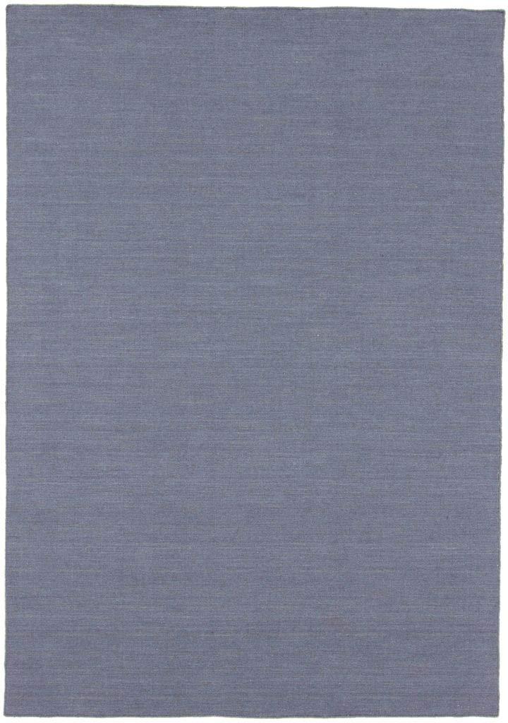 CarpetFine  Kelim Loom Teppich 160x230 cm Grau - Einfarbig