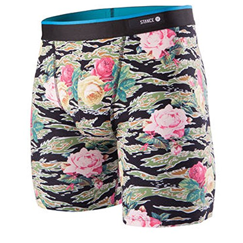 New Stance Men's Tiger Roses Del Mar Boxer Brief Cotton Fitted Elastane
