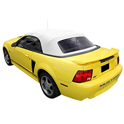 84d0dca358da Image Unavailable. Image not available for. Color  Ford Mustang 1994-2004  Convertible Soft Top   Plastic window White Sailcloth (1 piece