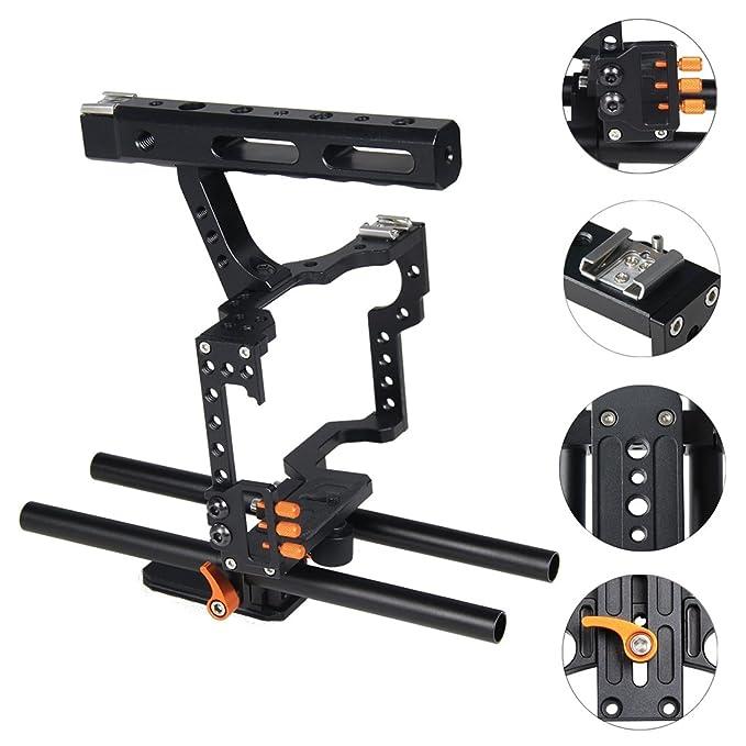 BAOBAO Jaula cámara Manejar Estabilizador for Sony A7 y A7S y A7R ...