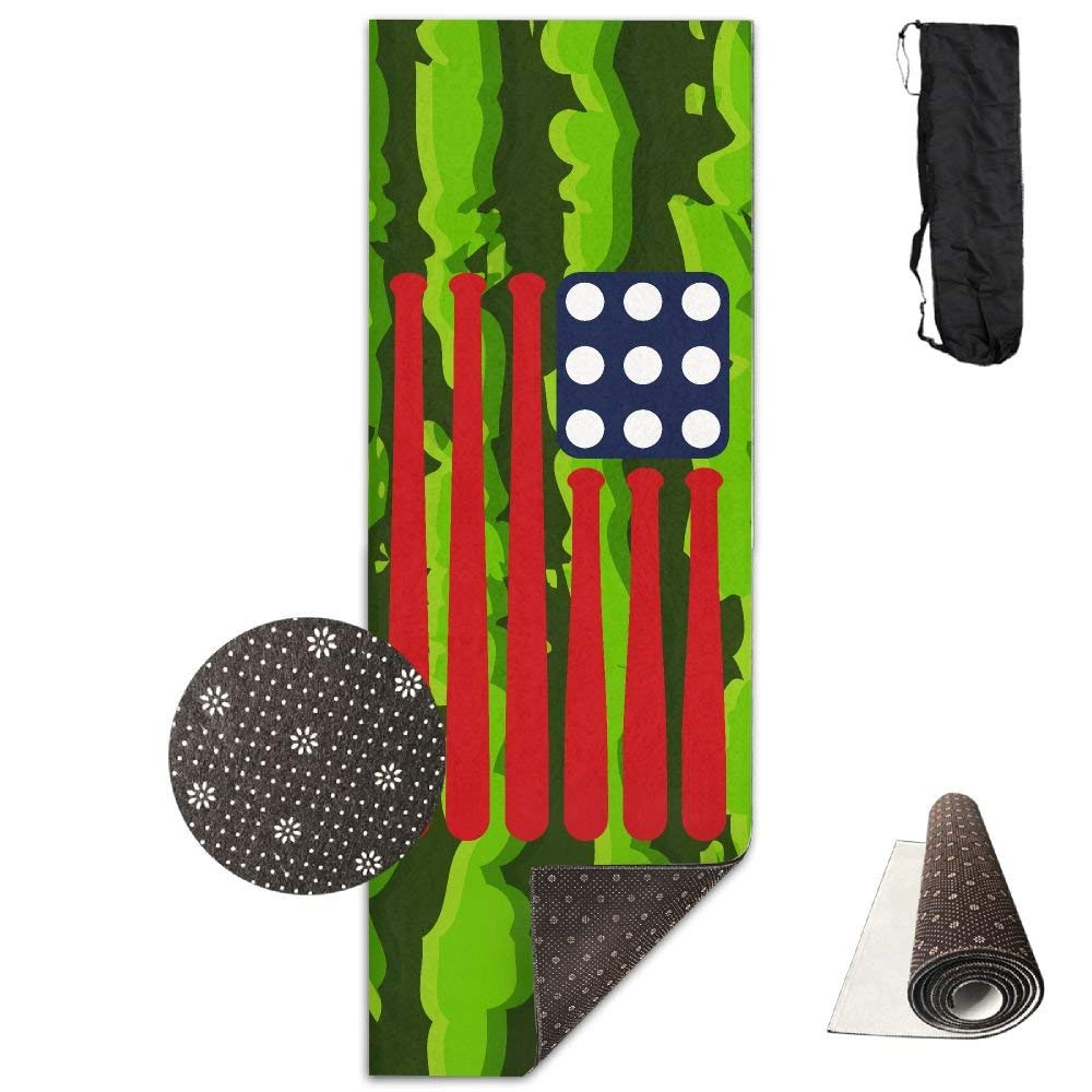 Baseball USA Flag Yoga Mat Towel for Bikram Hot Yoga, Yoga and Pilates, Paddle Board Yoga, Sports, Exercise, Fitness Towel