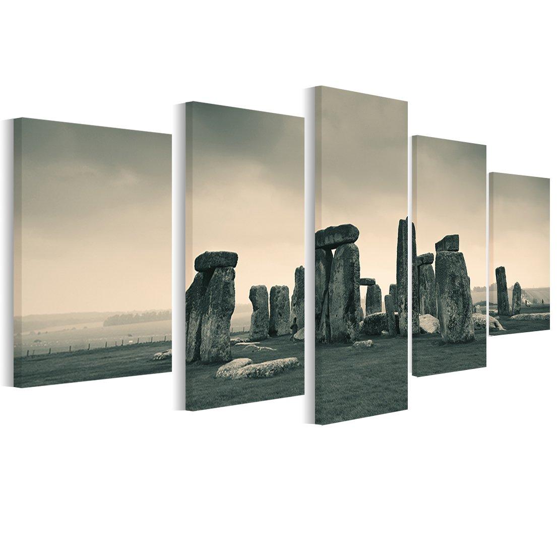 Stonehenge 1p Bild Bilder auf Leinwand Wandbild Poster