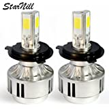 Starnill LED Headlight Conversion Kit - All Bulb Sizes - 72W 6600LM COB LED - Replaces Halogen & HID Bulbs (H4)