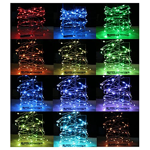 LED String Lights, Toki 16.4ft 50 LED Waterproof Decorative Lights Dimmable String Lights with Remote Control for Indoor and Outdoor, Bedroom, Patio, Garden, Wedding, Parties, CE & ROHS Listed by Toki (Image #1)
