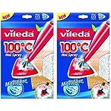 """'siluk _ Vileda Housse de rechange pour 100° """"Hot Spray et nettoyeur vapeur steam (2x 2pièces)"""