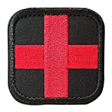 us army sewing kit - Backwoods Barnaby Medic Cross Morale Tactical First Aid Kit Patch with Velcro (Black, 2