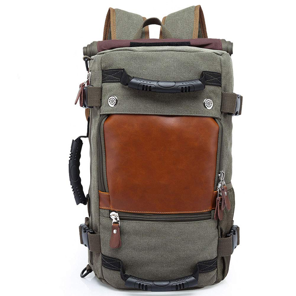 Army green One Size Unisex Casual Travel Waterproof Laptop Backpack Business Computer Backpack with Charging Port by S.Charma