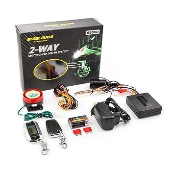 12 V sistema de alarma antirrobo para motocicleta, alarma de ...