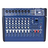 ammoon 8 Channels Powered Mixer Amplifier Digital Audio Mixing...