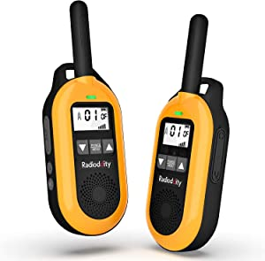 Radioddity FS-T2 Mini FRS Walkie Talkies NOAA Long Range Two Way Radio with VOX, CTCSS/DCS Tones, 22 Channels, Earpiece Mic for Adults, Family and Outdoor