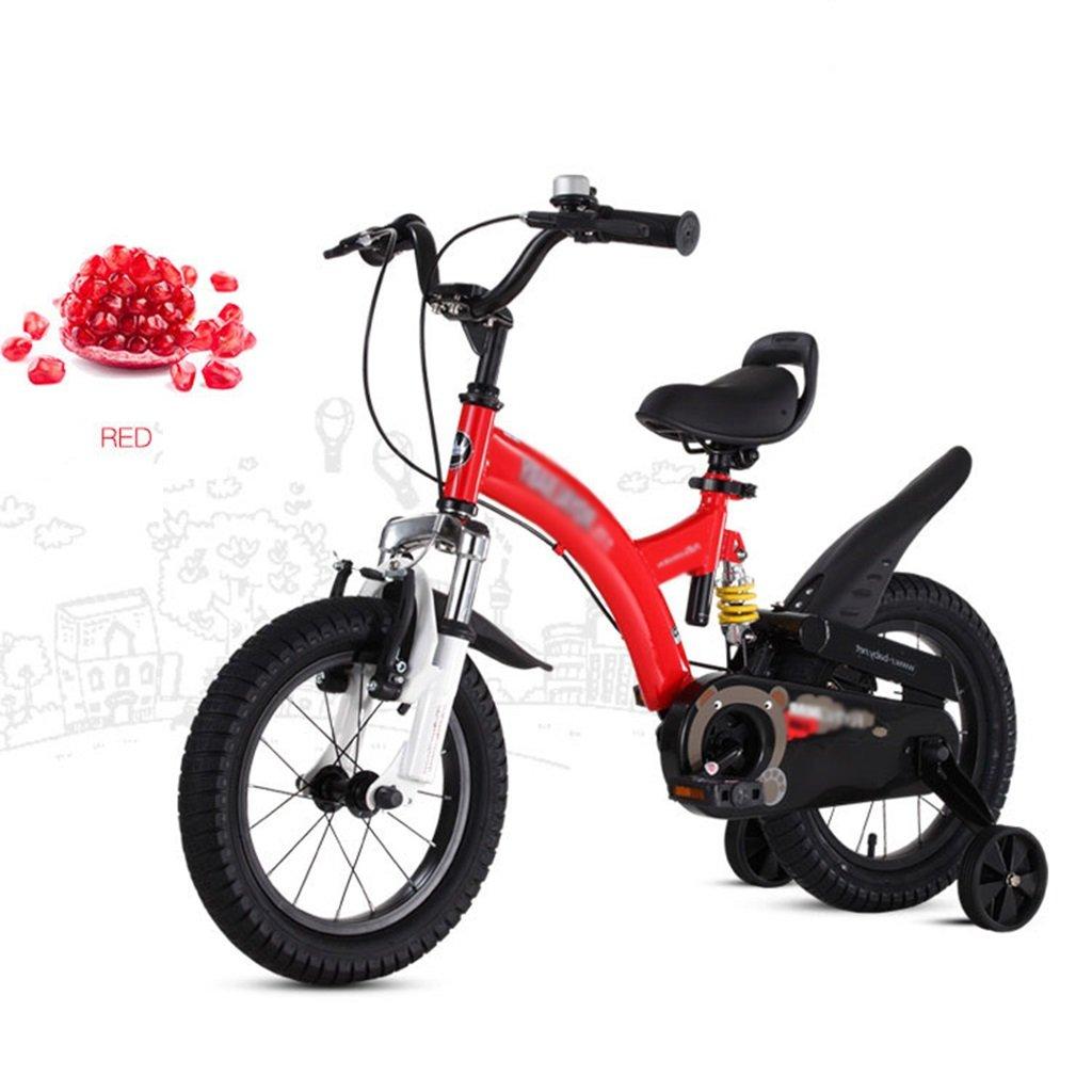 Gai Huaホーム子供用自転車子供の自転車2 – 4-6 – 7-8 – 9-10 Year Old Boy and Girl Baby Strollerペダル自転車 B07DQQB24R  レッド 14 inches