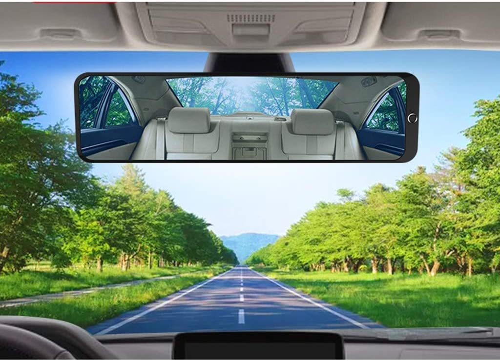 Anti-glare Wide-angle Lens Curved Mirror Indoor Blind Spot Mirror Suitable For Most Cars Broaden horizons L-Sun Shade High definition Inside The Car Large Field Of View Rearview Mirror