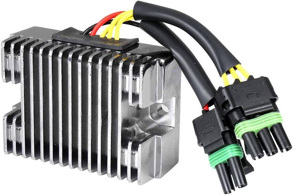 ANGLEWIDE Voltage Regulator Rectifier 278001241 278-001-554 Regulator Rectifier Fit for 1999-2000 Sea-Doo GSX 2003-2004 Sea-Doo GTI 1998-2003 Sea-Doo GTX 2000-2003 Sea-Doo RX 2003-2004 Sea-Doo XP