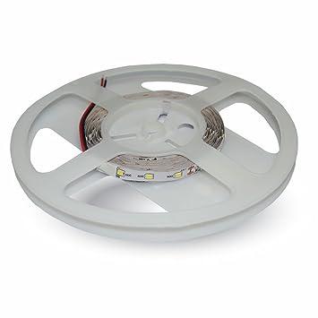 Tira de LED 5m V-TAC SMD3528 600 LED blanco frío SKU-2002: Amazon.es: Electrónica