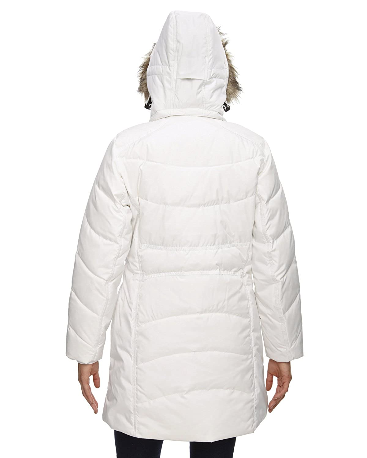 Ash City - North End North End Ladies Boreal Down Jacket Faux Fur Trim 78179