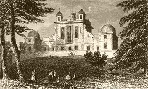 LONDON. The Royal Observatory, Greenwich Park, Kent. DUGDALE - 1845 - old print - antique print - vintage print - London art prints - Old Royal Observatory
