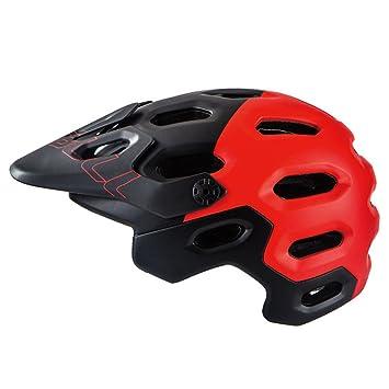 MOLDERY Casco Ciclismo Casco Ciclismo PC + EPS Bici Bicicleta Visor Ajustable Casco Montaña Seguridad MTB