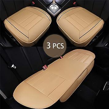 3pcs Car Seat Cover Breathable Cushion Protectors Driver Mat Pad Front Rear Back