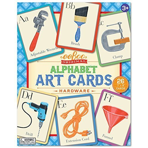 Hardware Alphabet Art Cards by (Eeboo Wall Cards)