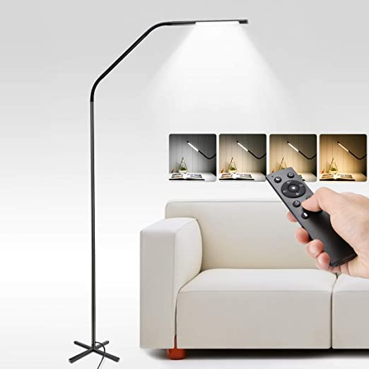 Metal and LE LED Living for LampDimmable RoomBedside 6 Touch Standard LampsRemote Control Standing Modes Lighting LampHeight Adjustable Floor w0OPn8kX