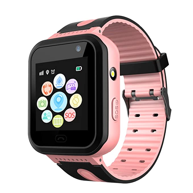 Kids Waterproof Smart Watch Phone for Student – Smartwatch Water Resistant Touch Screen Voice Chat One Key SOS for help Camera Game Alarm Clock Wrist ...