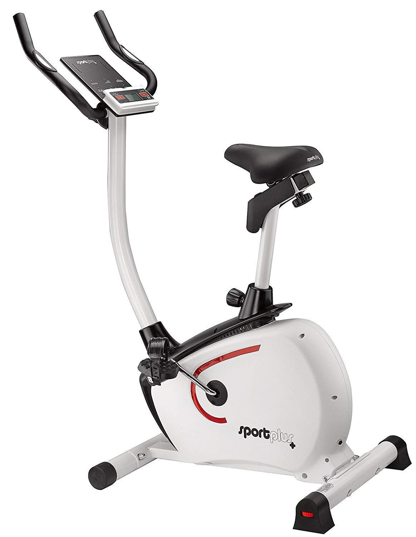 SportPlus Heimtrainer mit APP Steuerung & Google Street View, leises Magnetbremssystem mit Motorsteuerung, Pulssensoren, Nutzergewicht bis 110kg, Tablethalterung, Hometrainer, Sicherheit geprüft