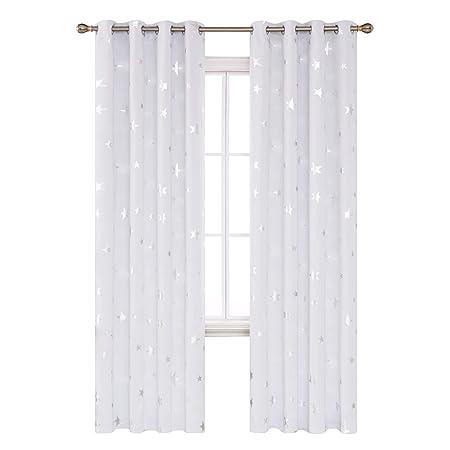 Kinderzimmer Gardinen | Amazon De Deconovo Vorhang Kinderzimmer Gardinen Sterne Vorhang