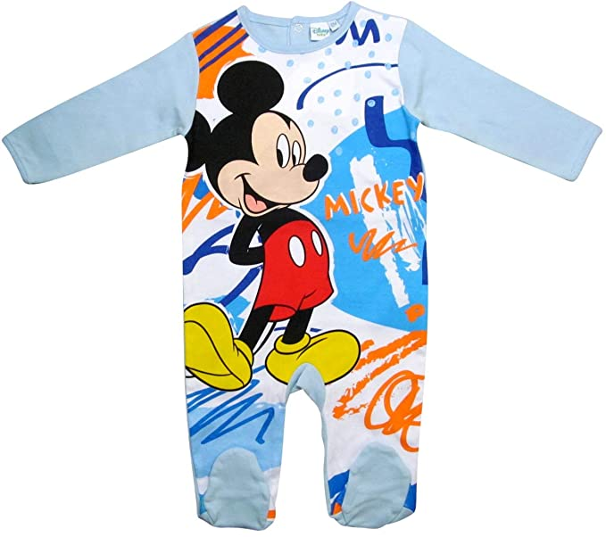 Mickey Mouse - Pantalón de Peto - para bebé niño Azul 68 cm