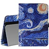 MoKo Samsung Galaxy Tab A 8.0 Case - Slim Folding Cover Case for Galaxy Tab A 8.0 Tablet SM-T350, With Auto Wake / Sleep and Stylus Pen Loop, Starry Night