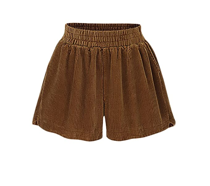 b686eddf28e11 Pantalones Mujer Tiro Alto Pantalones De Pana Elegantes Vintage Moda Pantalon  Cortos Ancho Shorts Talla Grande Moda Especial Hipster  Amazon.es  Ropa y  ...