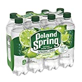 Poland Spring Sparkling Water, Zesty Lime, 16.9 oz. Bottles (Pack of 8)