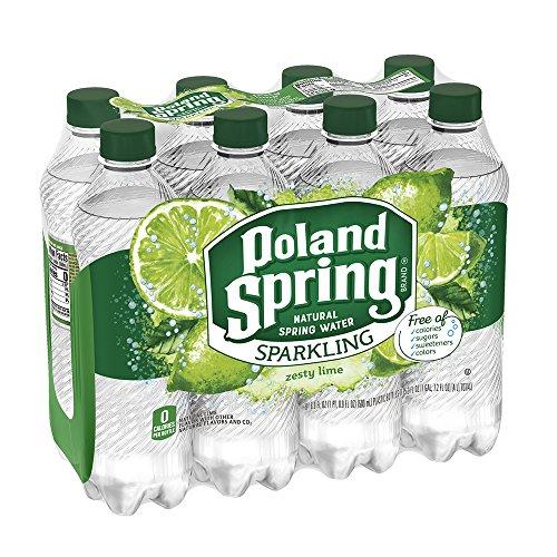 Poland Spring Sparkling Water, Zesty Lime, 16.9 oz. Bottles (Pack of 8)