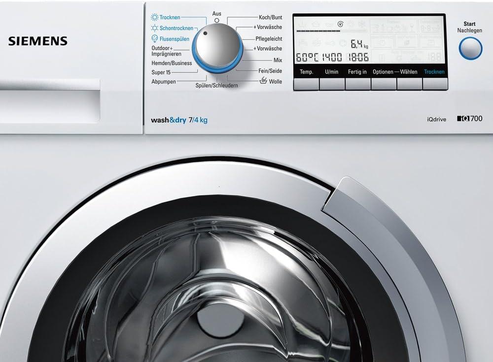 Siemens WD14H540 lavadora - Lavadora-secadora (Frente ...