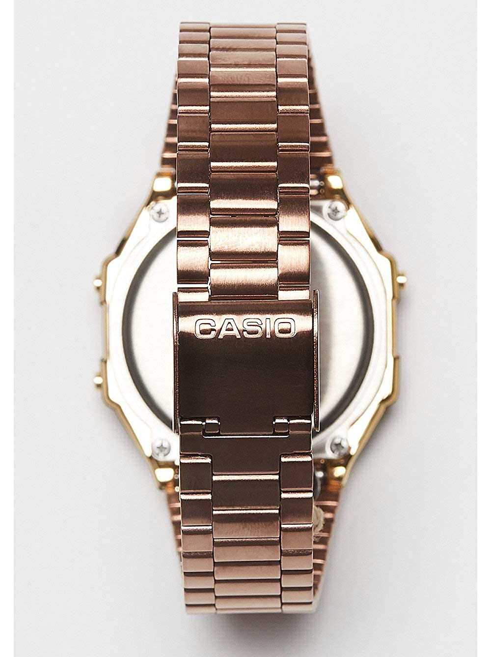 Casio Unisex Digital Quartz Watch with Stainless Steel Strap A168WECM-5EF   Amazon.co.uk  Watches 3119e8f36e