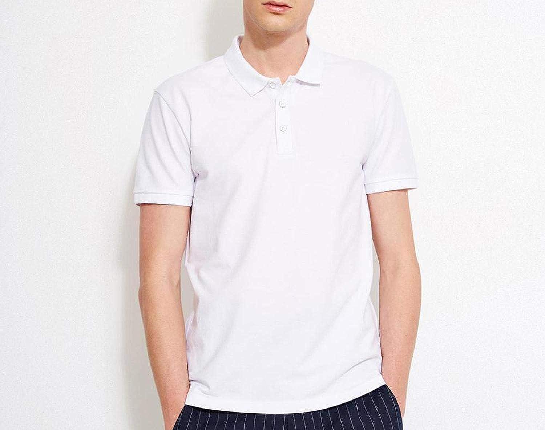 Mens Cotton Slim Fit Smart Casual Business Top Basic Shirt Mens Short Sleeve Top