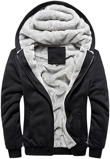 Rocky Sun Men Winter Comfortable Hooded Jacket Hoodie Faux Fur Lined Warm Coat