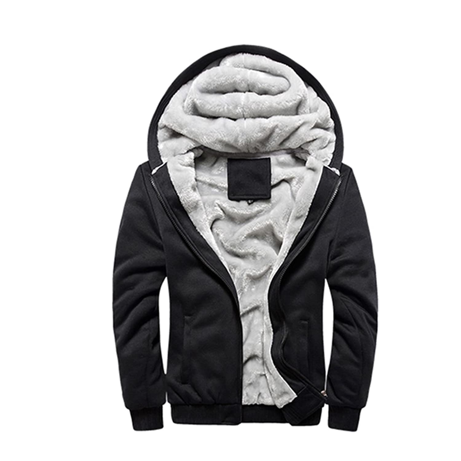 Rocky Sun Men Winter Comfortable Hooded Jacket Hoodie Faux-Fur ...