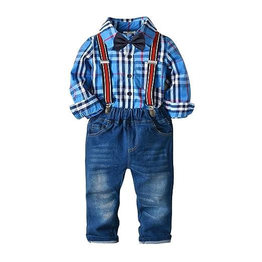 Weentop Conjuntos de Ropa para niños pequeños Pajaritas Camisas ...