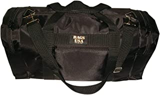 product image for Large Triple duffle gym bag two end compartment and front pocket,Made in U.s.a
