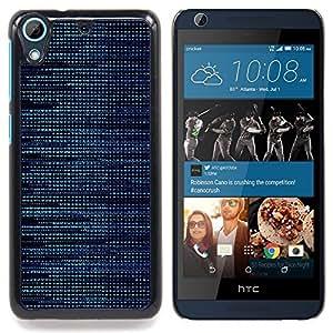 "Qstar Arte & diseño plástico duro Fundas Cover Cubre Hard Case Cover para HTC Desire 626 (Patrón Hacker Azul"")"