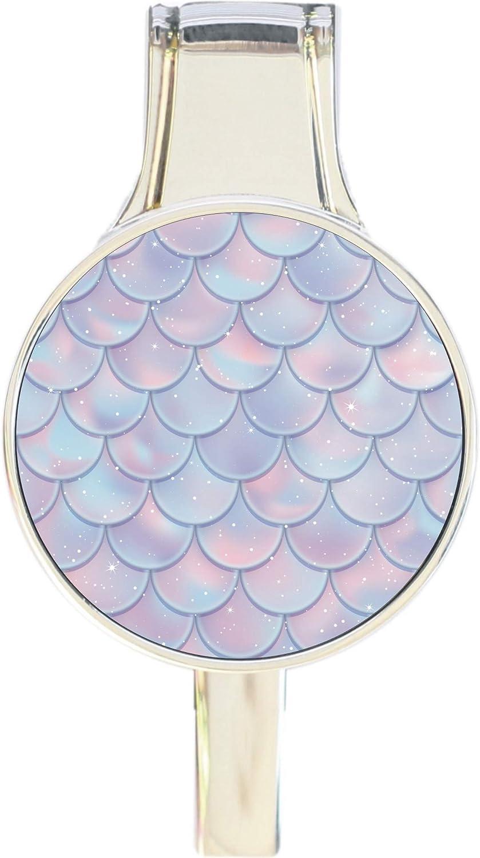 Mermaid Scales Pink Purple Blue Everything Purse Hanger Handbag Hook Retractable Folding